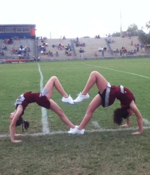 Awesome! Q: What is the awesomest thing you can do in cheer?A: scorpion #Cheerst...