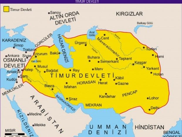 Timur 1401 E Kadar Yapilan Dort Seferle Irak Ve Guney Anadolu