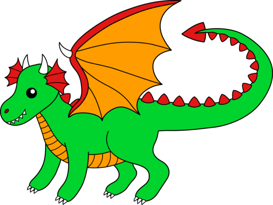Green dragon. Free clip art of
