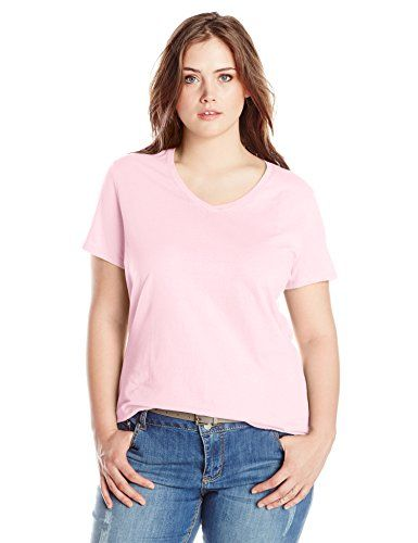 Special Offer: $10.00 amazon.com Just my size women's plus-size short sleeve V-neck t-shirt in soft, cotton rich fabric offers all the classic features of a short-sleeve tee and more. Slightly ribbed, overlapping V-neckline and shirt tail hem for a feminine, flattering fit.Solid...