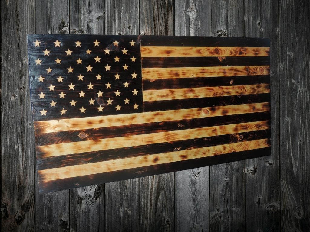 Wood Burned Old Glory Flag 11bravos Com With Images Old Glory Flag