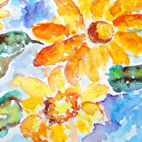 Arte colorido de la flor Floral print por LightheartedDreamer