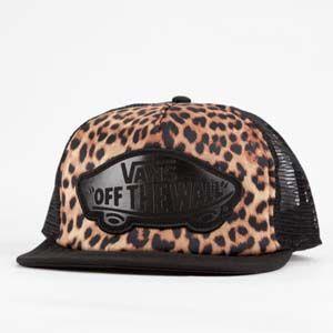 432eea4704b VANS Leopard Womens Trucker Hat  cheetah  leopard  vans  trucker ...