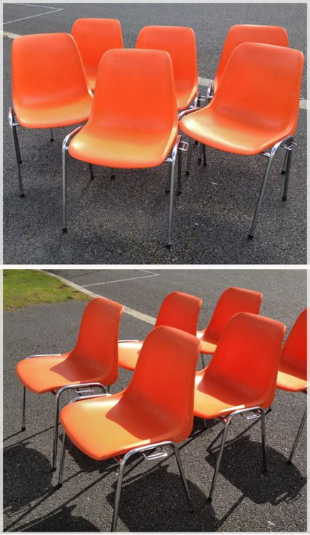 Eames inspired 70's stacking chairs