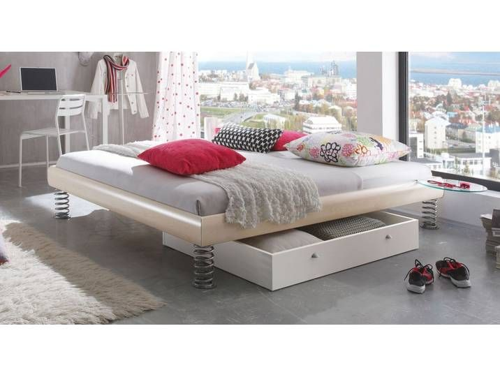 Photo of Cool decorative bed with springs 160×220 cm natural walnut – Wereda
