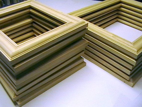 bulk lot unfinished wood custom picture frame by smithwoodcraft 11900