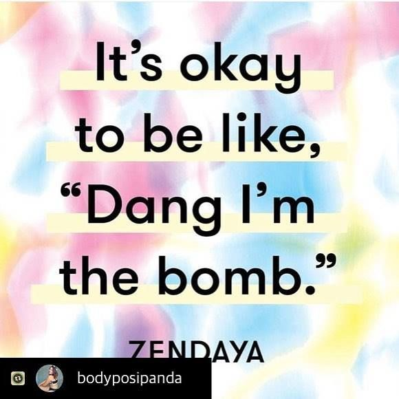 #Repost from @bodyposipanda There will always be people who don't understand you trying to love yourself. We've been so well trained in putting ourselves down. We bond over the body parts we hate. We shake off compliments and say 'oh no I look terrible today!'. We downplay our achievements and deny our strengths. Even when we feel good about ourselves we feel like we shouldn't say it - people might think we're vain or conceited! But those people don't know how hard you've worked to get here…