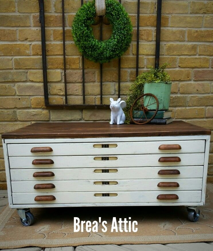 Flat file blueprint cabinet repurposed into a coffee table flat file blueprint cabinet repurposed into a coffee table malvernweather Choice Image