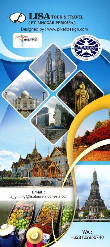Desain Stand Banner Wisata Travel Agent Desain Banner Desain