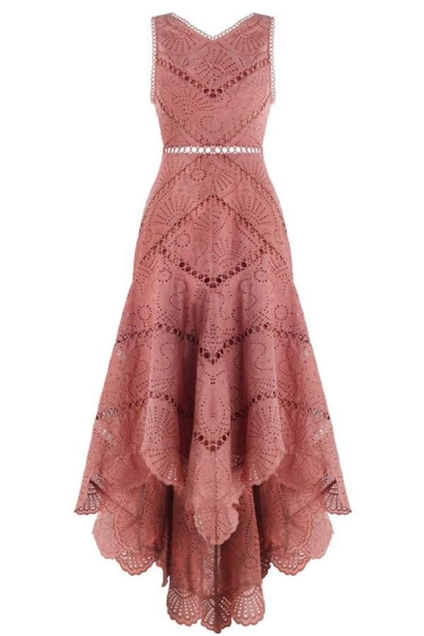 New Arrive Fashion Sleeveless High Low Prom Dresses With Lace