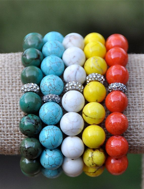 New Arrivals Spring Beaded Bracelets / Colorful Pave Rhinestone Bead Bracelets / Spring 2014