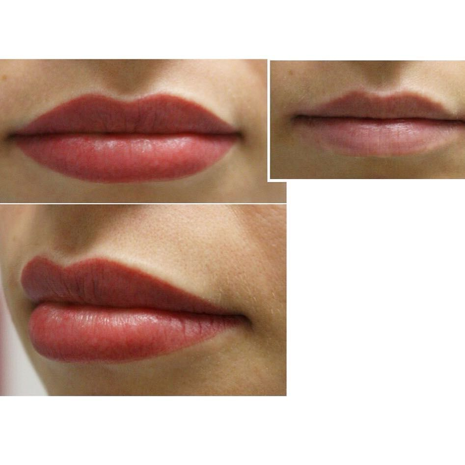 Lip liner tattoos before and after overdrawn lip tattoos