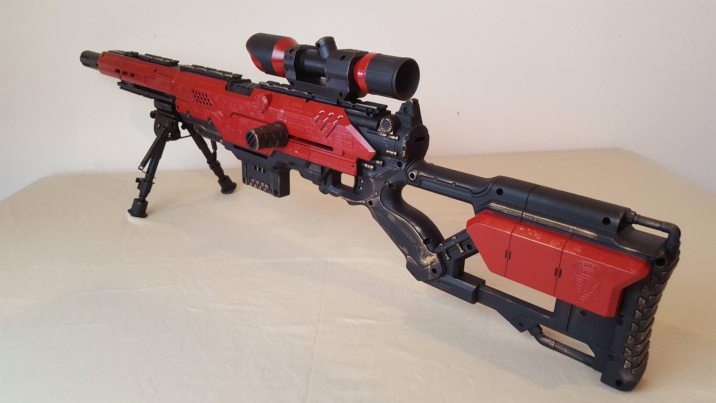 Custom 2x Power Modified Nerf Longstrike CS-6: w/front Bi-Pod