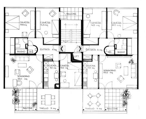 Roberto Bianconi Case d'appartamenti Terenzio (mit