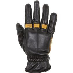 Photo of Helstons Velvet Ete Summer Gloves Black Gold Xl Helstons