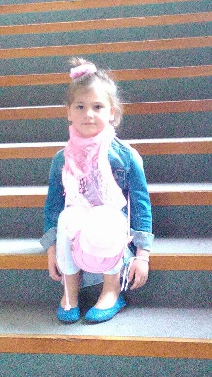 Lentefeest meisje blauw roze