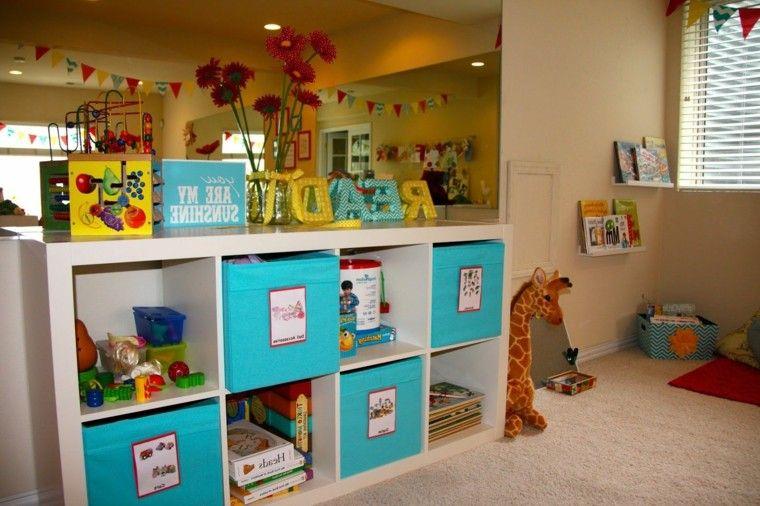 rangement salle de jeux enfant 50 id es astucieuses coin jeux pinterest rangement salle. Black Bedroom Furniture Sets. Home Design Ideas