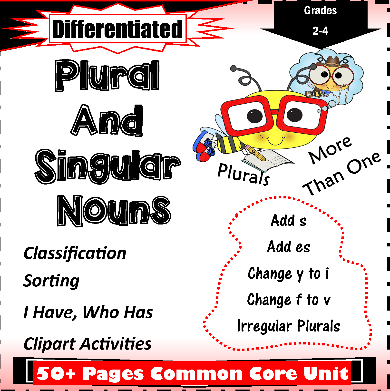 Plural And Singular Noun Worksheets For Grade 2 4 Common