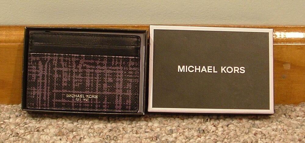 645a210b9694 Michael Kors Men's Warren Leather Card Case W/ Money Clip Grey #MichaelKors  #CardCaseMoneyclip