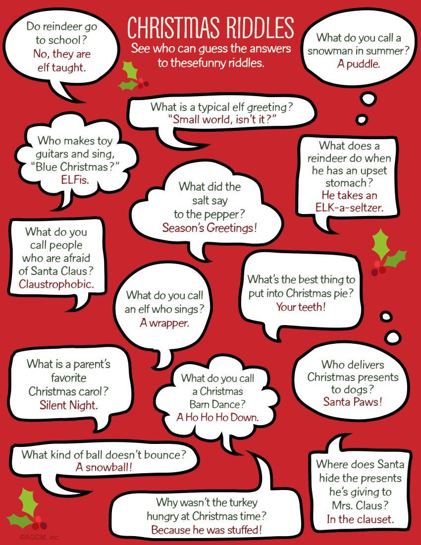 Printable Christmas Riddles Full Size Jpg 850 1100 Christmas Riddles Christmas Printables Riddles
