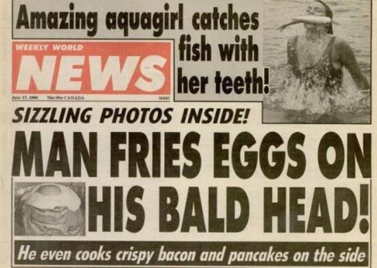 Tabloid Headline Funny Headlines Funny News Headlines Funny