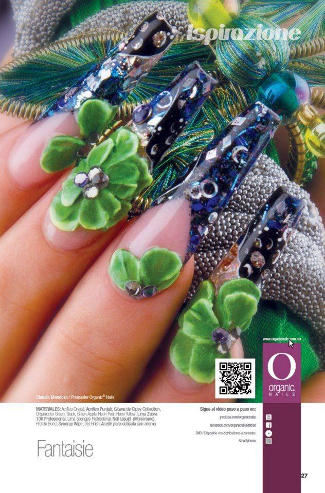 Claudia Mendoza/ ProMaster Organic® Nails   Nails Blue And Light ...