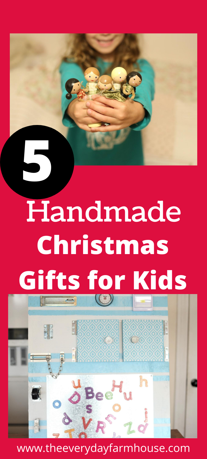 5 simple ideas for handmade gifts your kids will love! #handmadechristmas #handmadegifts #kidschristmasgifts
