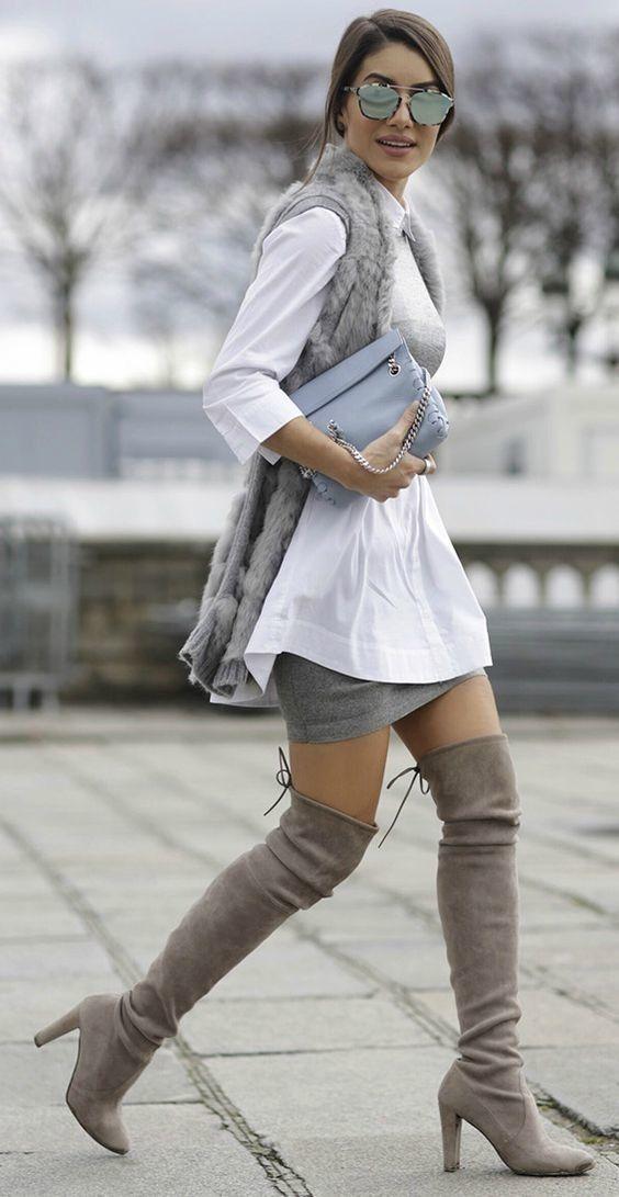 Muszkieterki Najmodniejsze Buty Na Jesien Wizaz Pl High Knee Boots Outfit Thigh High Boots Outfit Fashion