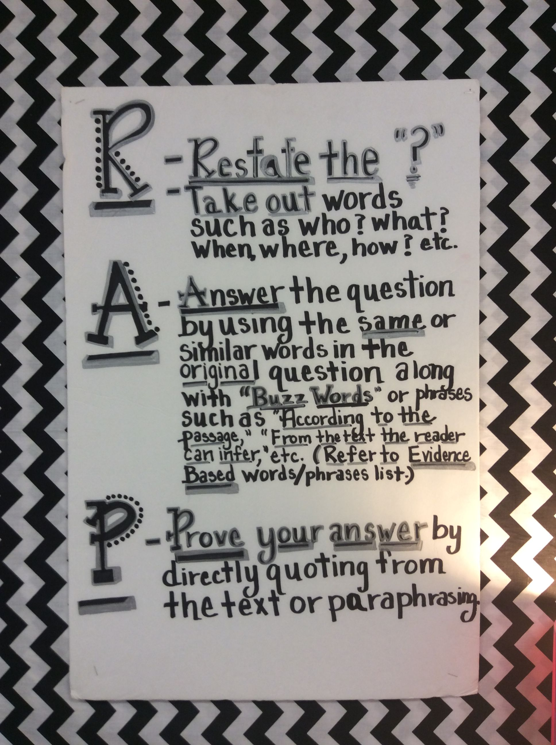 The R.A.P. Method to teach students to answer a writing ...