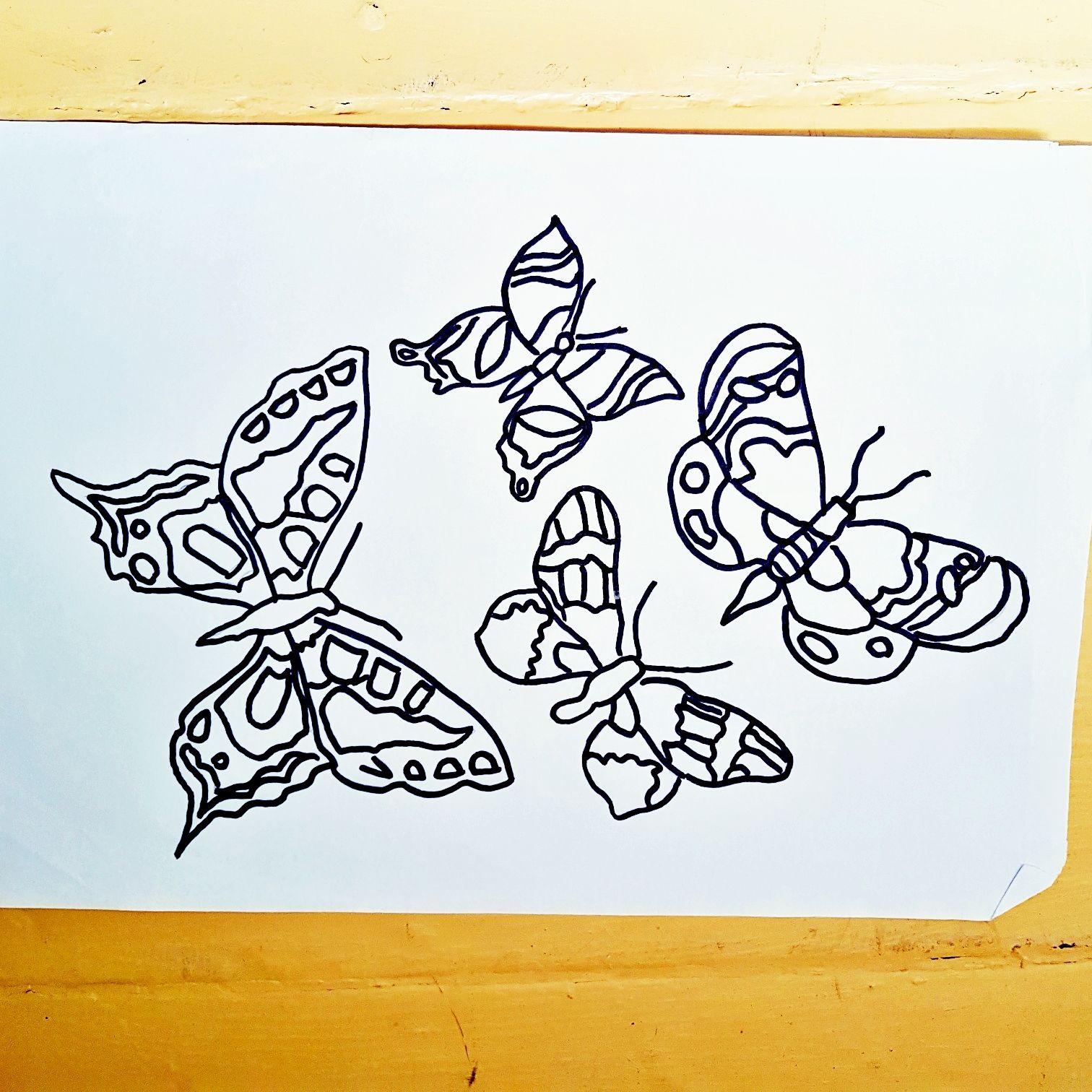 Meine Zeichnung von einen Schmetterling