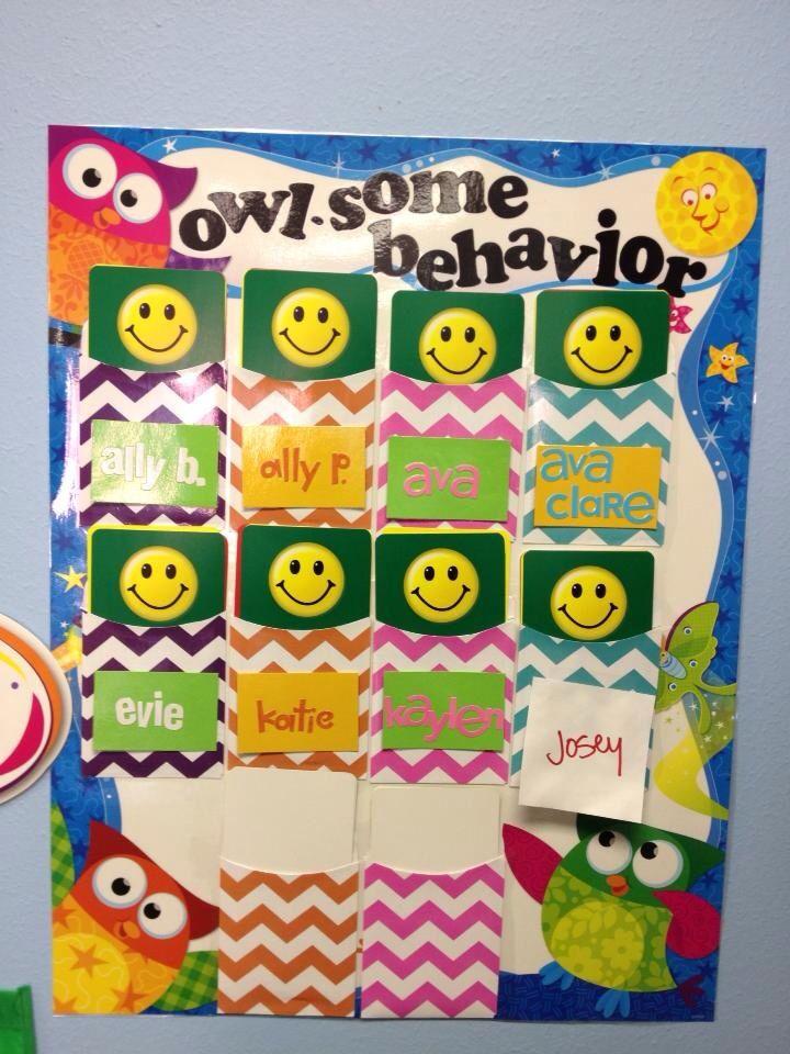 Behavior Chart- owl themed preschool classroom (With ...