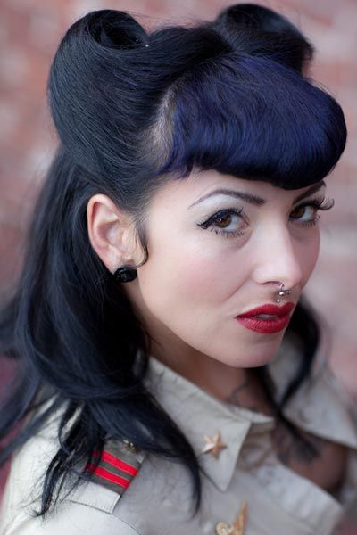 Cool 1000 Images About Bettie Bangs On Pinterest Short Hairstyles Gunalazisus