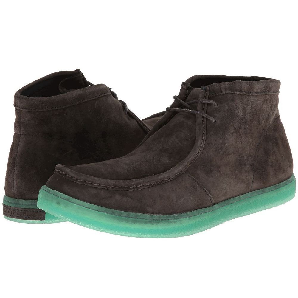 Hush Puppies Mens Aquaice Wallaboot Charcoal Gray Suede Chukka Desert Boots