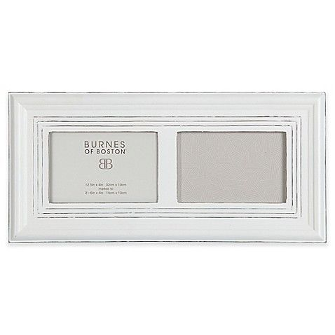 Burnes of Boston 2-Photo Wood Ribbed Picture Frame in Whitewash ...