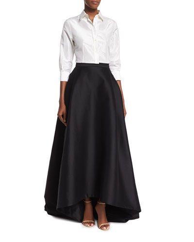 High-Low Ball Skirt, Black | Ball skirt, Silk taffeta and Carolina ...