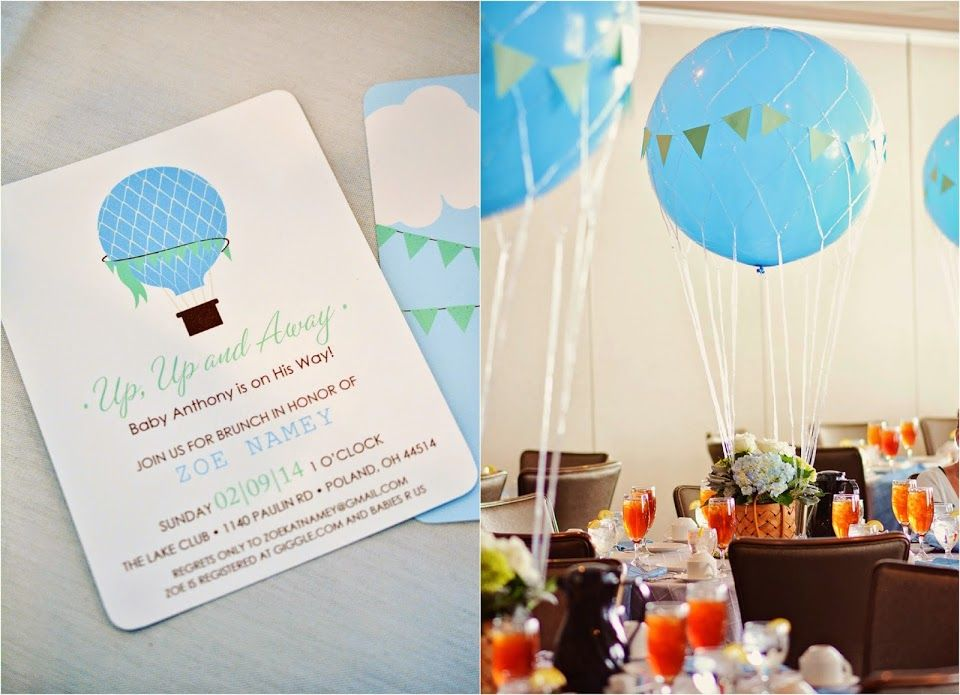 Pittsburgh In Polka Dots: Hot Air Balloon Baby Shower (Up Up And Away)