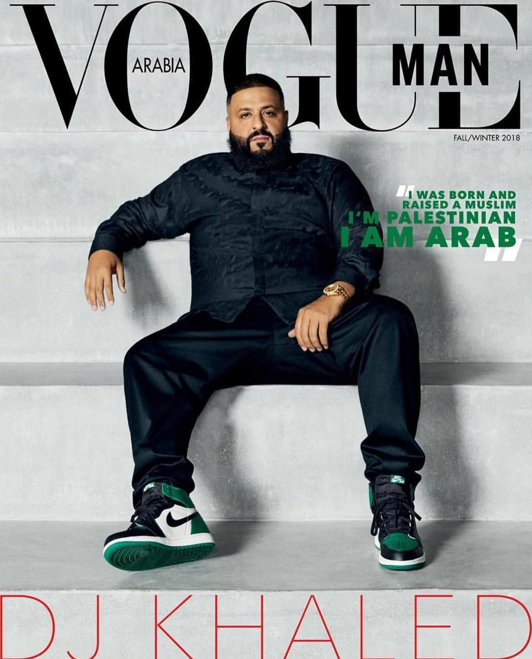 510ebb5eebb994 DJ Khaled for Vogue Man Magazine Arabia Fall 2018