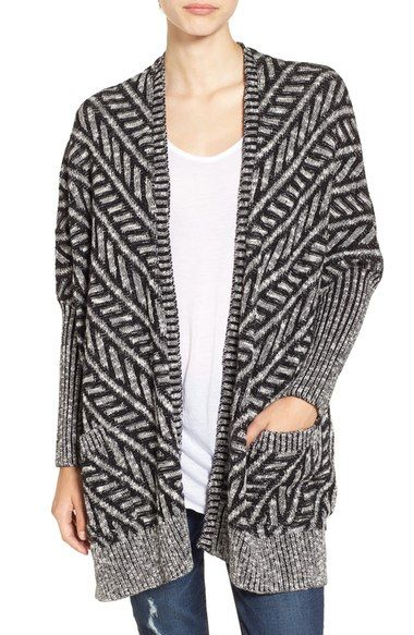 Sun & Shadow Texture Knit Boxy Cardigan available at