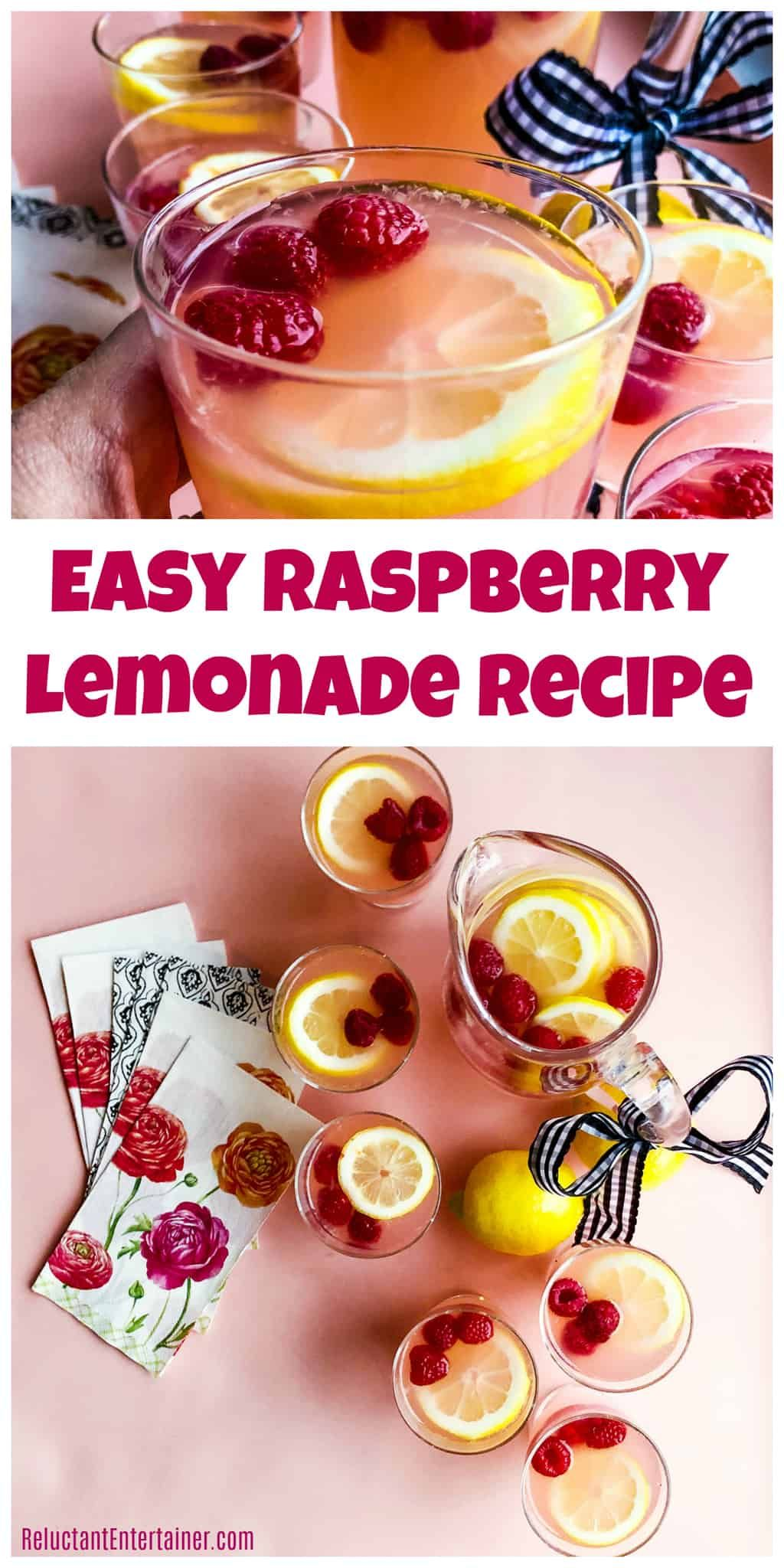 Easy Raspberry Lemonade Recipe #raspberrylemonade #lemonade #raspberrylemonade