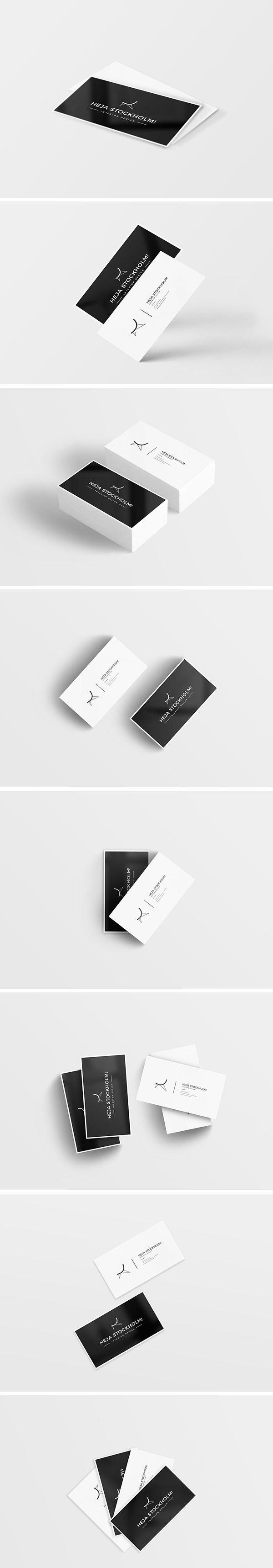 115+ High-Quality Free Business Card Mock-ups PSD | Free business ...