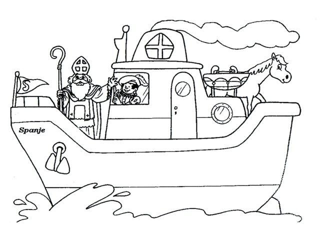 Kleurplaten Sinterklaas Stoomboot.Kleurplaat Stoomboot Thema Sinterklaas Pinterest Crafts For