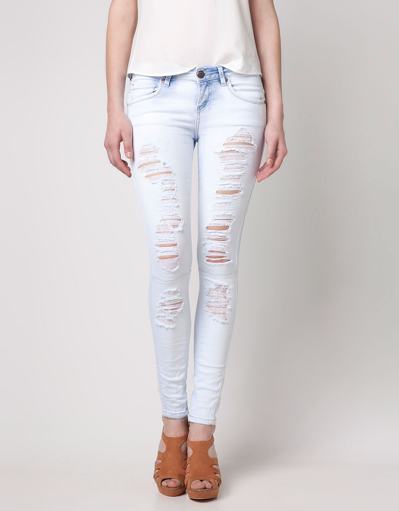 115a5c7f63 Jeans BSK rotos | Clothes | Pinterest | Jeans, Moda and Bershka