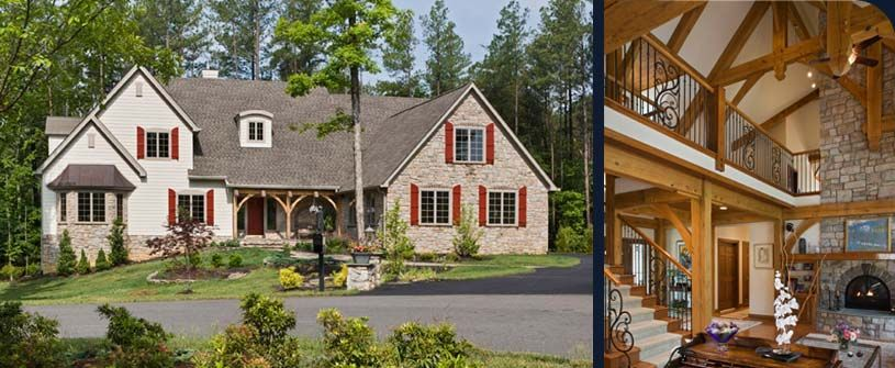 A Timber Frame Family Gathering Place - Maine Custom Timber Frame ...