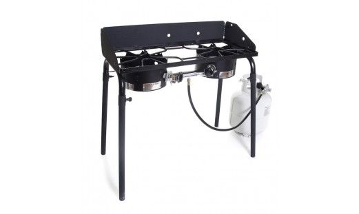 Explorer Double Burner Propane Stove Camp Chef Stove Is Ex60lw For 170 83 Pizza Oven Is Pz60 For 181 Best Camping Stove Outdoor Cooking Stove Camping Stove