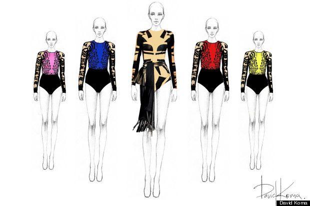 Beyonce stage costume design illustrations - ideas for Latin dance outfit - salsa bachata cha cha rumba samba