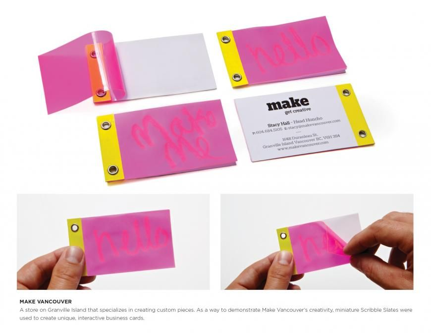 Make Vancouver: Scribble slate | (not boring) business card ...