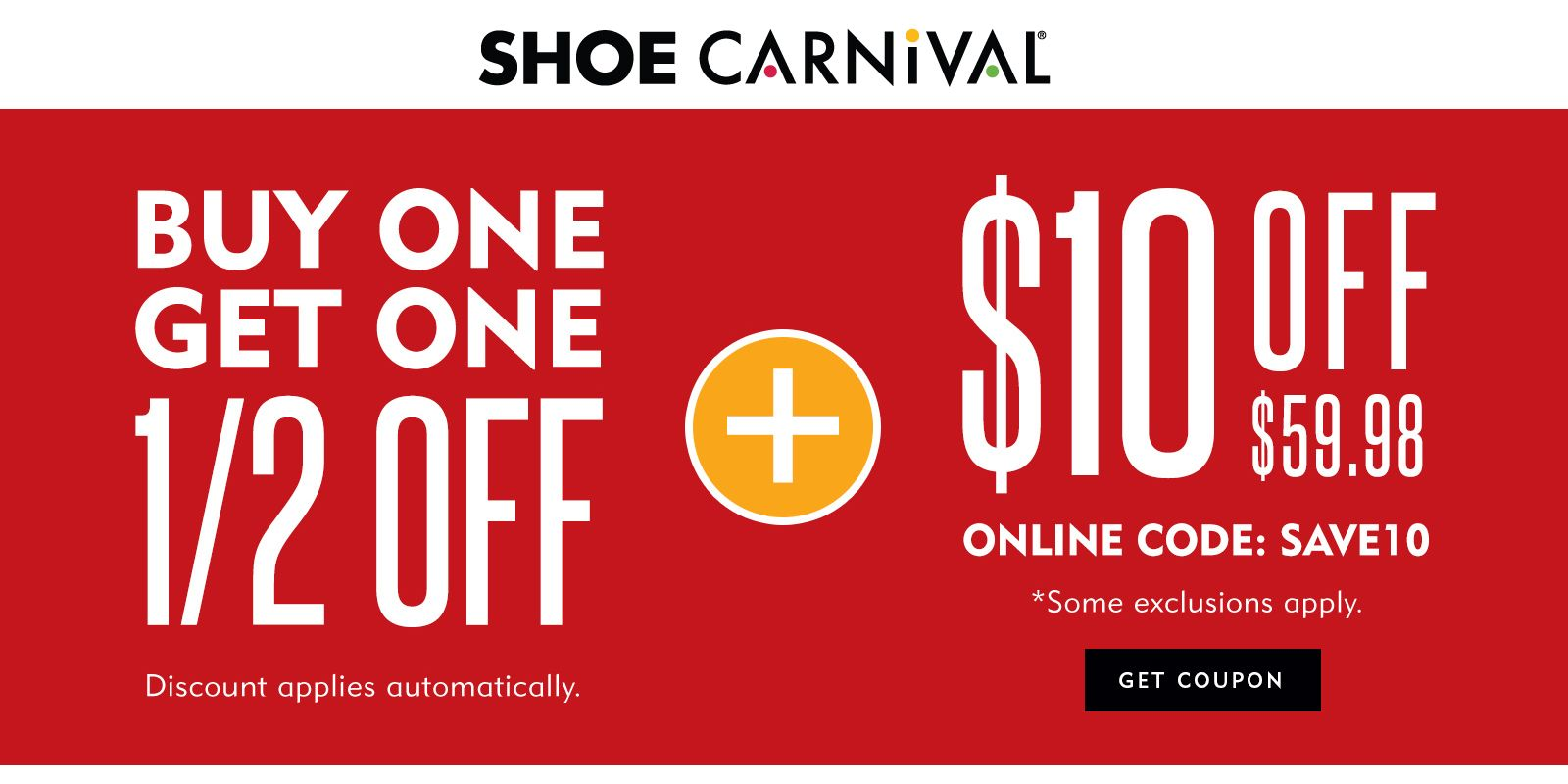 $10 Off Over $59.98 #Shoes #carnival