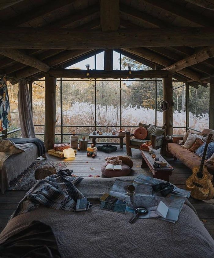 A very cozy set up in Massachusetts
