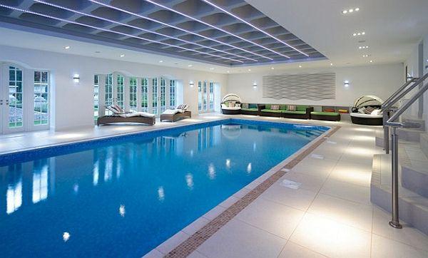 Schwimmbecken zu Hause - 50 Design Ideen für den eigenen Indoor Pool