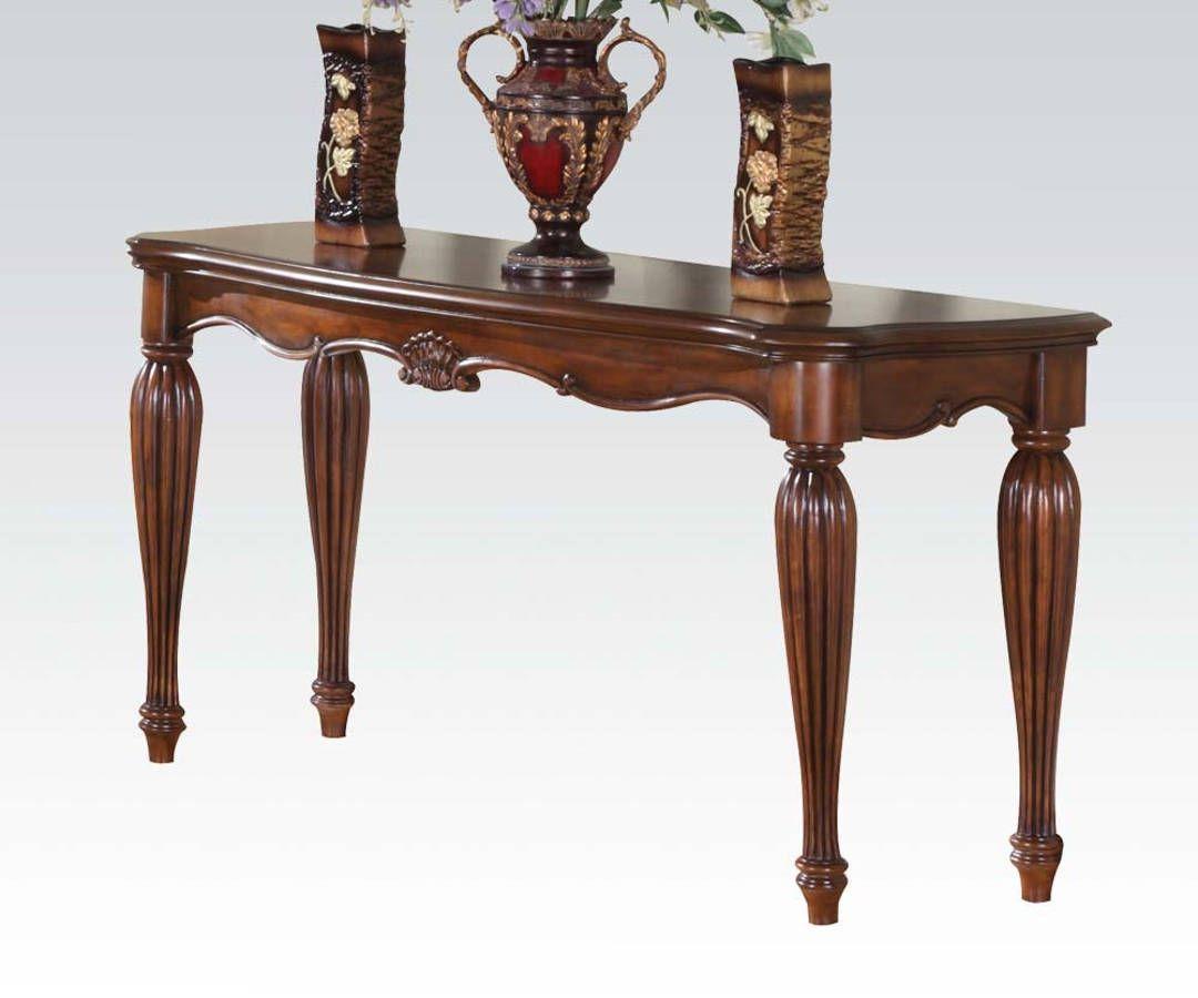 Dreena Brown Cherry Wood Sofa Table